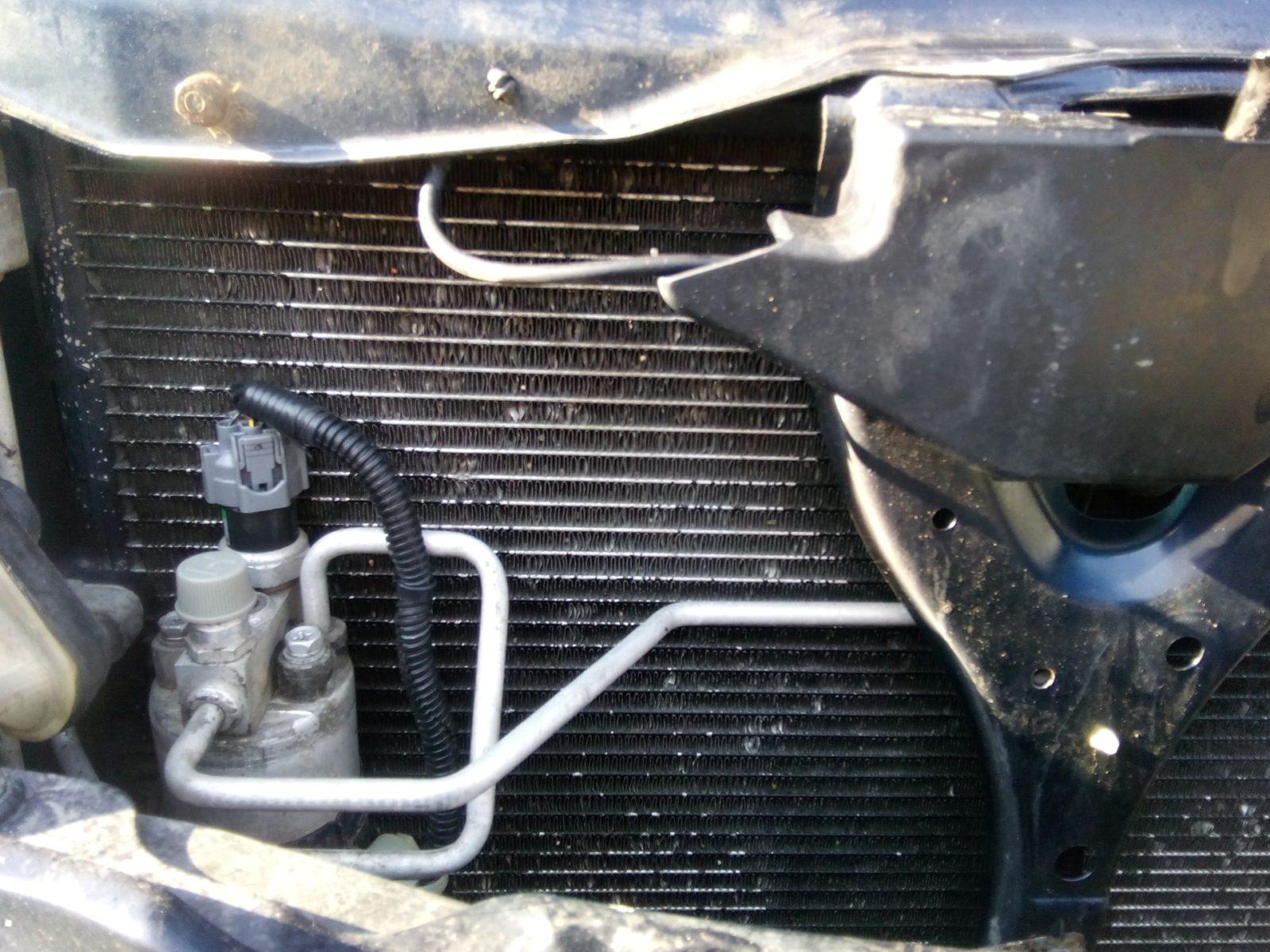 замена радиатора охлаждения хонды легенд